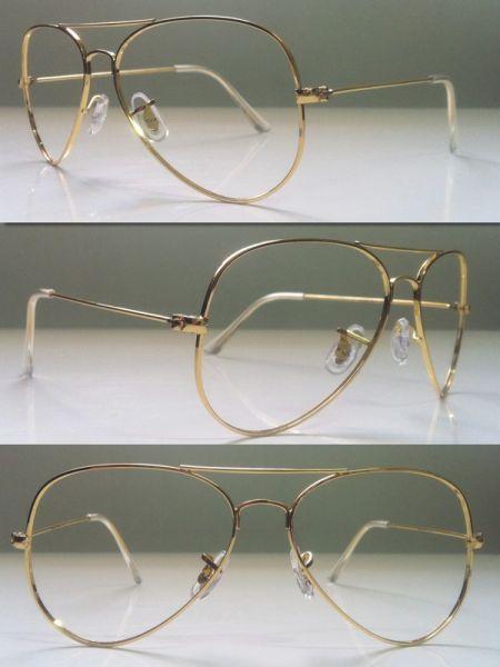 Armação Ray Ban Modelo Aviador Óculos Grau cor Dourado - Loja de fullquality 6249a95f6f